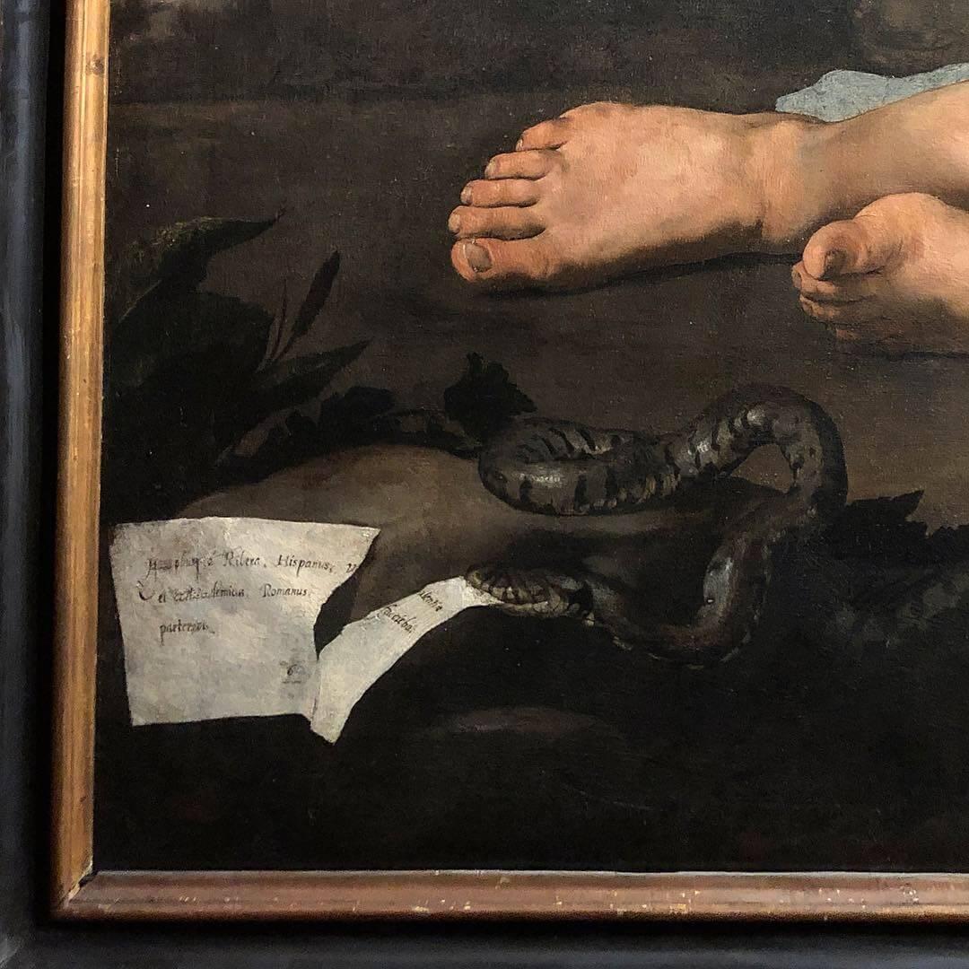 Lescargot Ivana Porcini jose-de-ribera-sileno-ebbro-dettaglio